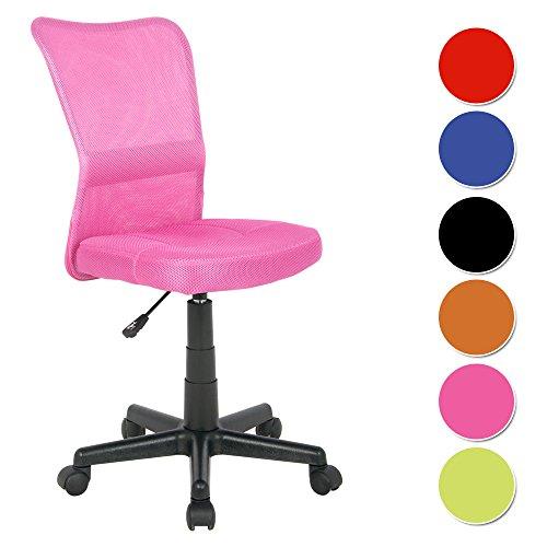 SixBros. Bürostuhl Drehstuhl Schreibtischstuhl Pink - H-298F/1412