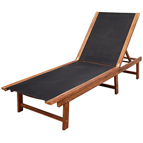 vidaXL Akazienholz Sonnenliege Gartenliege Relaxliege Gartenmöbel Liegestuhl