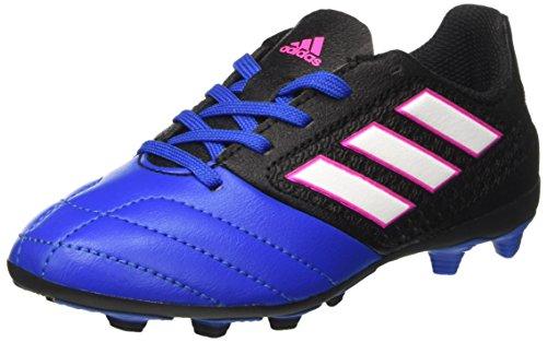 adidas Unisex-Kinder Ace 17.4 FxG J Futsalschuhe, Schwarz (Cblack/ftwwht/Blue), 36 EU