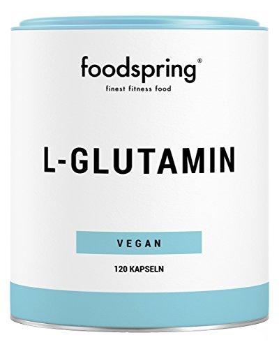 foodspring L-Glutamin Kapseln, 120 Stück, Vegan, Für optimale Regeneration, Hergestellt in Deutschland nach strengsten Richtlinien und Standards