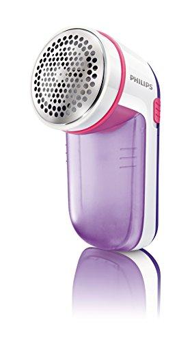 Philips GC026/30 Fusselrasierer für verschiedene Stoffe, 2 Höheneinstellungen, batteriebetrieben, flieder-pink