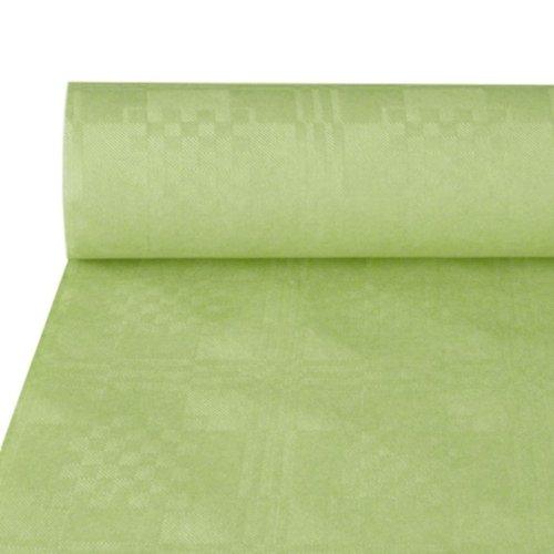 NEU Tischdecke pastellgrün, Damastprägung, 50x1m