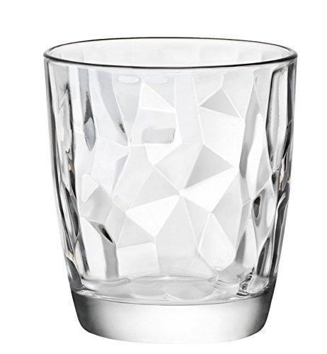 Bormioli Rocco 350200 Diamond Trasparente Wasserglas, 305 ml, Glas, transparent, 6 Stück