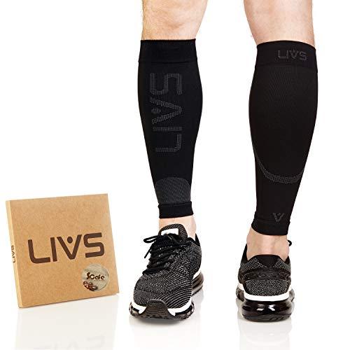 LIVS Waden-Kompressionsstrümpfe ohne Fuß, Geruchshemmend, für Damen & Herren, Sport, Regeneration, Medizinisch Empfohlen