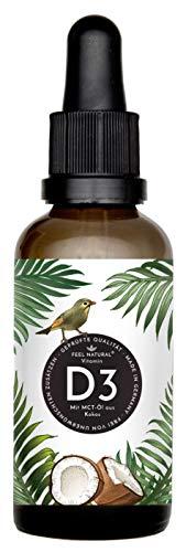 Vitamin D3-50ml (1750 Tropfen) - 1000 IE je Tropfen - in MCT-Öl aus Kokos gelöst - Laborgeprüft. Ohne Zusätze. Hergestellt in Deutschland