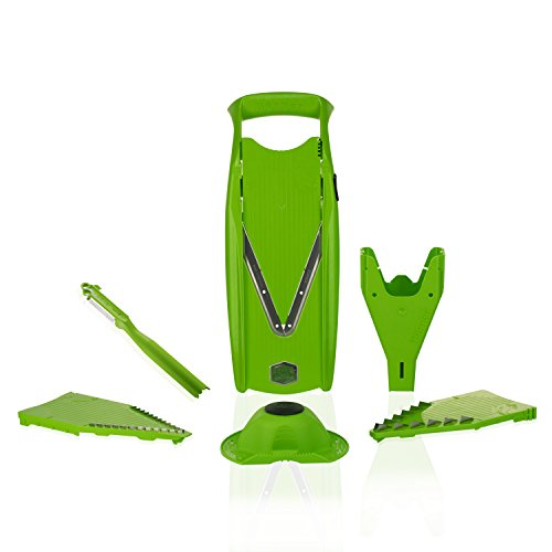 Börner Gurkenhobel V5 PowerLine Plus Set (grün) - BPA frei