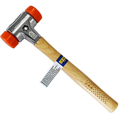 S&R Schonhammer / Kunststoffhammer 30 mm, PU-Kopf, Hickory Stiel