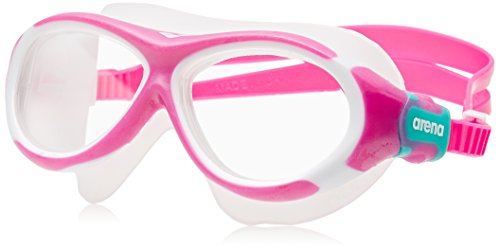 arena Kinder Unisex Schwimmmaske Brille Oblò Junior (Verstellbar, UV-Schutz, Anti-Fog Beschichtung), Pink-Clear (90), One Size