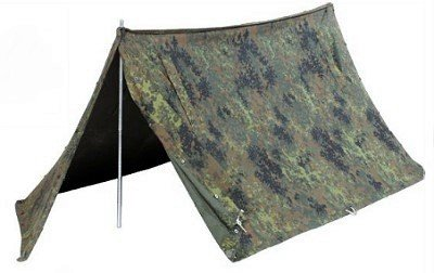 BW Zweimann-Zelt komplett Flecktarn gebr.