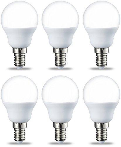 AmazonBasics E14 LED Lampe P45, Tropfenform, 5.5W (ersetzt 40W), warmweiß, 6er-Pack