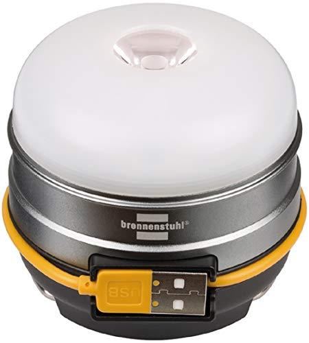 Brennenstuhl Akku LED Outdoor Campingleuchte Oli 0300 A (für außen, aufladbar und inkl. USB-Powerbank) silber