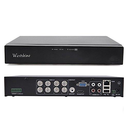 Westshine 8 Kanal 1080P Digitaler Videorekorder NVR DVR H. 264 CCTV Motion Detection E-Mail Sicherheitsalarm P2P Cloud für Sicherheit Überwachung Kamera