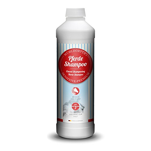 Mühldorfer Pferdeshampoo, Reingung und Pflege von Fell, Mähne und Schweif, pH-neutral, Mühldorfer's Sensitiv-Premium, 500 ml