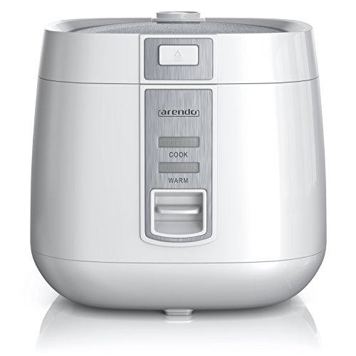 Arendo - Reiskocher | Dampfgarer Dampfgarerfunktion | 1,4l Kapazität | Überhitzungsschutz + Thermosicherung | automatische Warmhaltefunktion | wärmeisolierendes Doppelwanddesign | GS Prüfsiegel