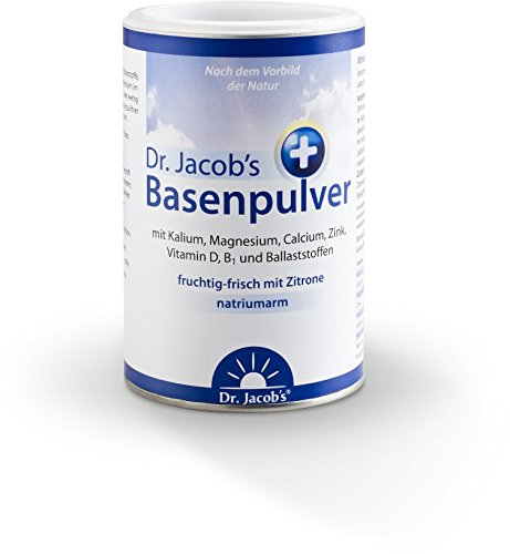 Dr. Jacob's Basenpulver Plus 1 Dose 300 g - 50 Portionen, mit echter Zitrone, keine Zusätze