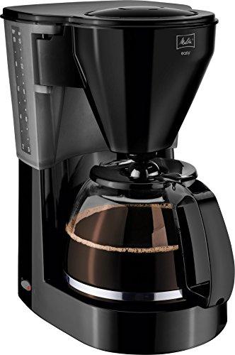 Melitta, Filterkaffeemaschine mit Glaskanne, EASY, Tropfstopp, Schwarz, 1010-02