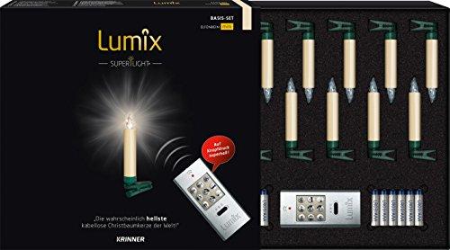 Krinner Weihnachtsbaum-Beleuchtung Innen batteriebetrieben 12 LED Warm-Weiß 75522