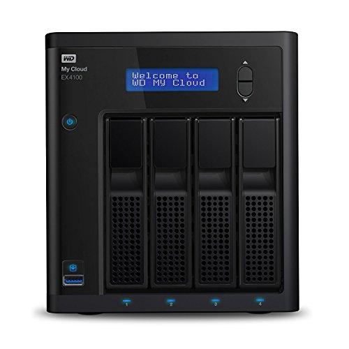 WD My Cloud EX4100 16 TB - Expert Series - Network Attached Storage - 4-Bay NAS - WDBWZE0160KBK-EESN