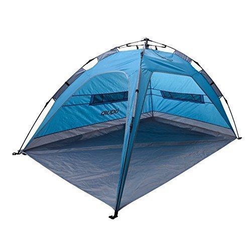 Uquip XL Strandzelt Buzzy mit UV Schutz 50+ Sonnenschutz, Windschutz oder Regenschutz für die ganze Familie