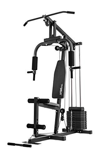 Trex Kraftstation Fitnessstation Multigym Fitnesscenter Multistation TX-044K mit Latzug, Brustpresse, Butterfly, Seilzug, Beinstrecker inkl. Gewichte 40 kg