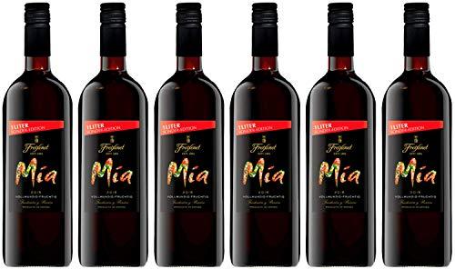 Mia Tinto Wein 1 l (6 x 1l) l halbtrocken l Spanischer Rotwein aus Castilla La Mancha l Begleiter für viele Gerichte