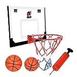 Cyfie Mini Basketballkorb Set, Basketballkorb Zimmer mit Bälle und Pumpe Indoor Basketball Brett Basketballkorb beim Büro Basketballkorb fürs Zimmer