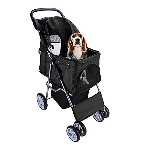 display4top Pet Travel Kinderwagen Hund Katze Kinderwagen Kinderwagen Jogger Buggy mit 4 Rollen