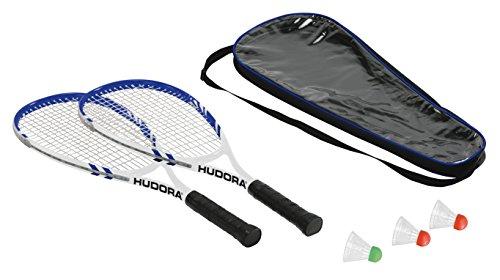 HUDORA Badminton-Set Speed - 2 Badminton-Schläger + 3 Federbälle - 75014