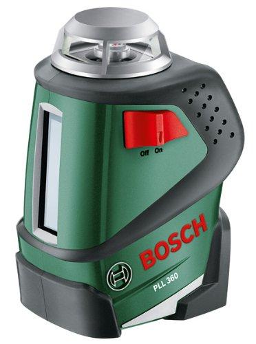 Bosch Linienlaser PLL 360 (4x AA Batterien, Universalhalterung, Tasche, Arbeitsbereich: 20 m, Messgenauigkeit: ± 0,4 mm/m)