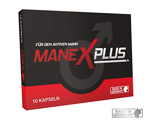 ManexPlus - für den aktiven Mann - 100 % Natürlich - Liebe, Lust + Sperma - 10 Kapseln - Kraftvolle Unterstützung
