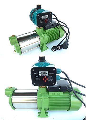 CHM Kreiselpumpe Gartenpumpe INOX HMC170-5SH 1500Watt, Spannung 230V/50Hz, Förderleistung 10200 L/h, 5,5 bar robuste Edelstahlwelle + digitaler Pumpensteuerung DSK-18.