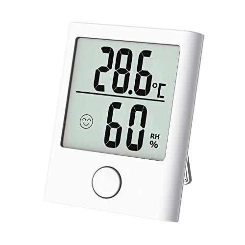 Tragbares Thermometer Hygrometer, Digital Innen/Außen Thermo-Hygrometer mit Hohe Genauigkeit, Klare Temperatur und Luftfeuchtigkeit, Komfortanzeige, Fein und Schön geeignet für Zimmers, Reise usw.