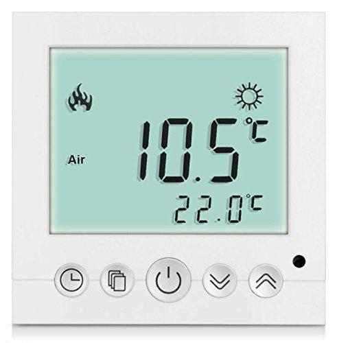 SM-PC, Digital Thermostat Raumthermostat Fußbodenheizung Wandheizung LED weiß #a31