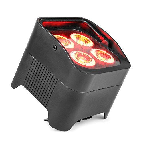 Beamz BBP94 Uplight PAR 4x10W 6in1 LEDs RGBAW-UV 48W 12,6V/7,8Ah Akku schwarz
