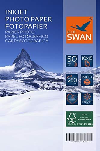 100 Blatt Fotopapier 10x15 cm 250g hochglanz wasserfest einseitig hochglanz (10x15cm 250g)