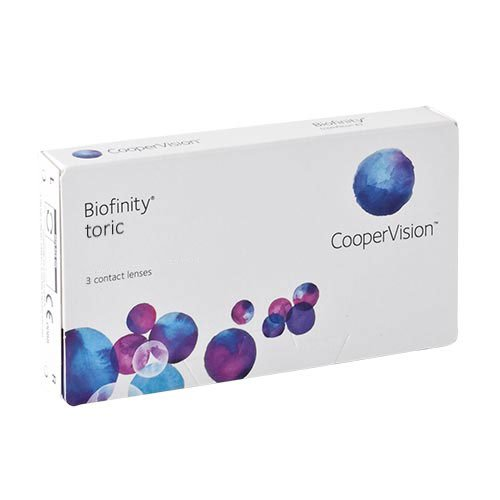 Biofinity Toric, torische Monatslinsen weich, 3 Stück / BC 8.7 mm / DIA 14.5 / CYL -0,75 / Achse 070 / -00,75 Dioptrien