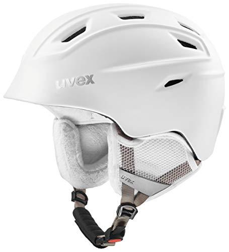 Uvex Erwachsene Fierce Skihelm, White mat, 55-59 cm