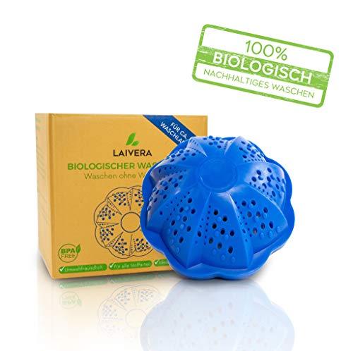 Laivera Öko Waschball I Eco Waschkugel mit 4 Mineralarten und 2-Fach-Magnetkraft I Waschen ohne Waschmittel I Laborgeprüft & BPA-Frei I Nachhaltiger Wäscheball ideal für Allergiker und sensible Haut