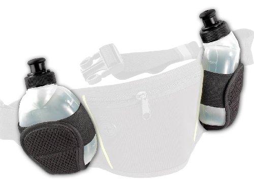 PEARL sports Zubehör zu Trinkgürtel: Ersatztrinkflaschen für NC-2819, 2er Set (Bauchtasche mit Getränkehalter)