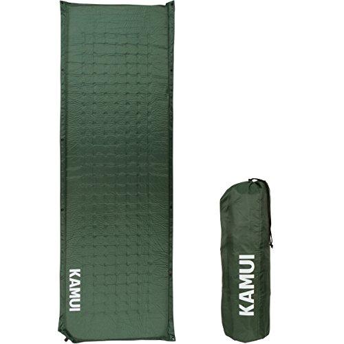 Kamui selbstaufblasende isomatte, selbstaufblasbare isomatte, 5cm dick - Mehrere Matten kombinierbar, geeignet ALS Campingunterlage (Grün)