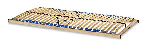 madera 7 Zonen Lattenrost zur Selbstmontage, mit 28 Leisten, extra stabil durch durchgehende Holme - Grösse 120x200