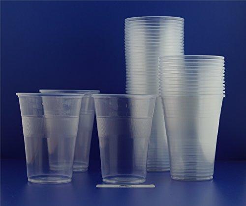 1.000 Trinkbecher, Plastikbecher 0,3 l transparent mit Füllstrich Bierbecher Einwegbecher PP von Gastro-Bedarf-Gutheil