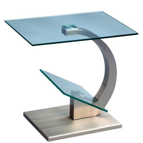 HomeTrends4You 531188 Beistelltisch, 48 x 46 x 38 cm, Metall Edelstahloptik