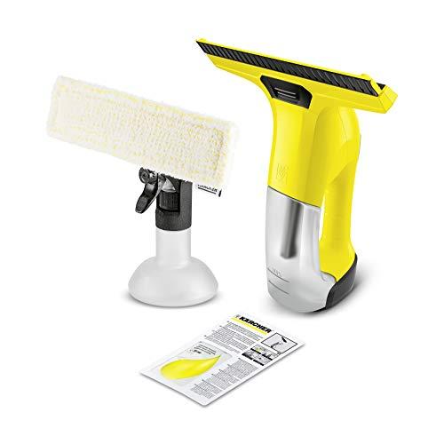 Kärcher WV 6 Plus Fenstersauger (inkl. Zubehör, 100 min Akkulaufzeit, Fensterreiniger für Fenster, Fliesen, Dusche und Vitrinen)