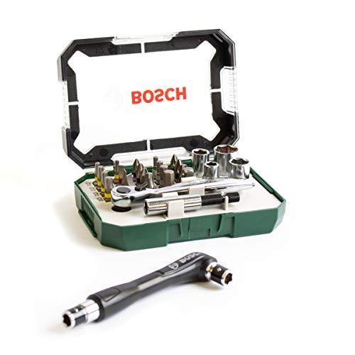 Bosch Heimwerken & Garten Schrauberbit- und Ratschen-Set, 27-teilig Knarre