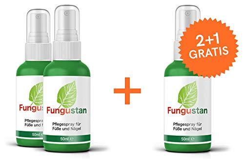 Fungustan | Das Original | Fußpilz & Nagelpilz Spray | Hochdosiert | 150 ml | 2+1 gratis!