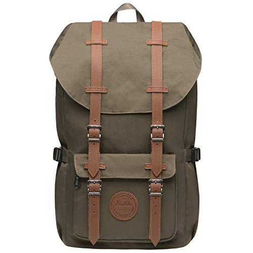 KAUKKO Rucksack Damen Herren Studenten 17 Zoll Backpack für 15' Notebook Lässiger Daypacks