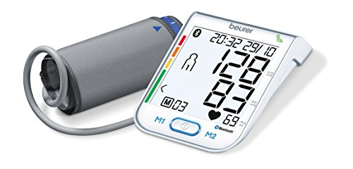 Beurer BM 77 Bluetooth Blutdruckmessgerät Oberarm weiß | digitales Blutdruck- und Pulsmessgerät inkl. Diagnose App