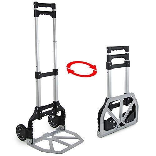 Tenzo-R 33872 Ramroxx Profi Aluminium Sackkarre Stapelkarre ausziehbar klappbar bis 75 kg