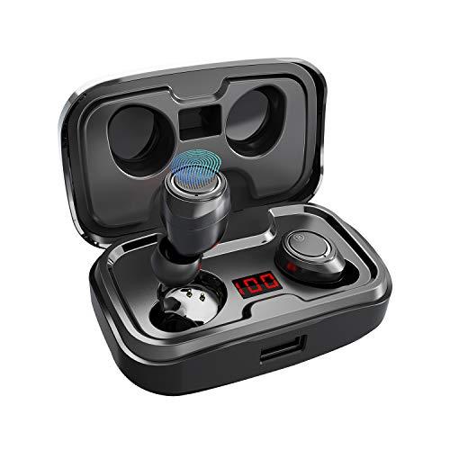 【Neuestes Modell】 Antimi Bluetooth Kopfhörer Kabellos in Ear Kopfhoerer Sport Wireless Bluetooth 5.0 Headset mit 140 Stunden Spielzeit/Digitalanzeige/IPX7 Wasserdicht für iPhone Huawei Samsung